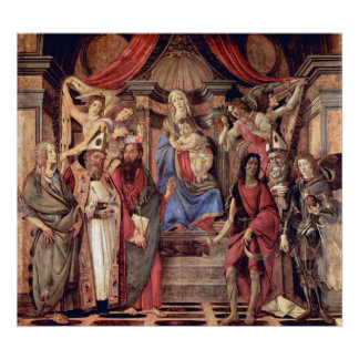 Madonna throne of angels and saints print