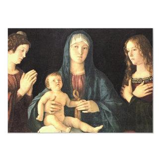 Madonna und zwei Heilige Invite