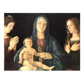 Madonna und zwei Heilige Postcard