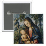 Madonna under the fir tree, c.1510 2 inch square button