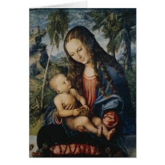 Madonna under the fir tree, c.1510 greeting card
