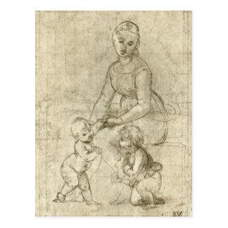 Madonna w Christ & St. John the Baptist by Rapahel Postcard