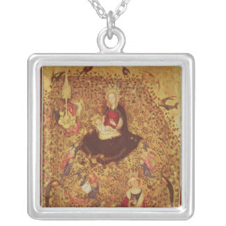 Madonna with a Rose Bush Silver Plated Necklace