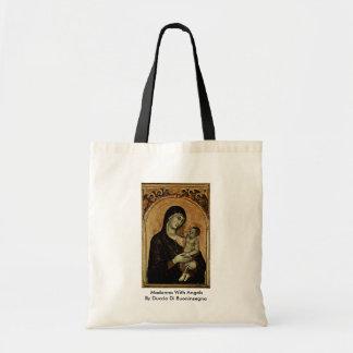 Madonna With Angels By Duccio Di Buoninsegna Bag