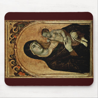 Madonna With Angels By Duccio Di Buoninsegna Mouse Pad