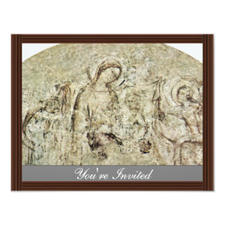 Madonna With Angels By Martini Simone 4.25x5.5 Paper Invitation Card
