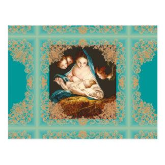 Madonna With Baby Jesus by Carlo Maratta (postcard Postcard