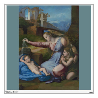 Madonna with Blue Diadem Raphael Wall Sticker