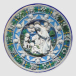MADONNA WITH CHILD AND ANGELS ROUND STICKERS