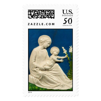 MADONNA WITH CHILD AND WHITE LILIES POSTAGE