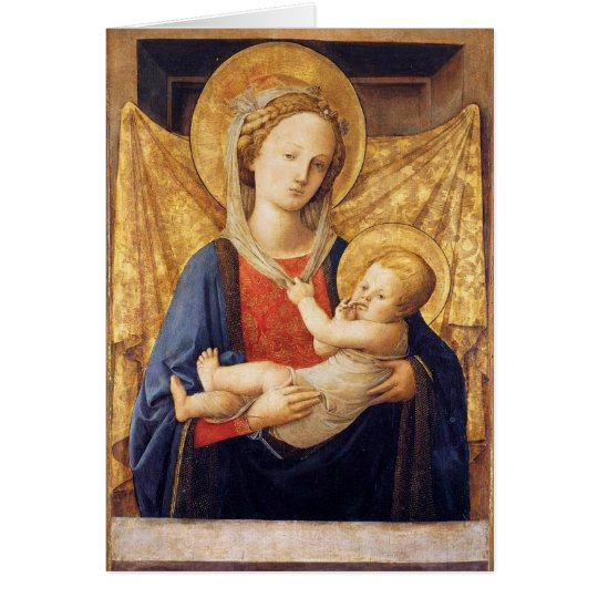 Madonna With Child Card