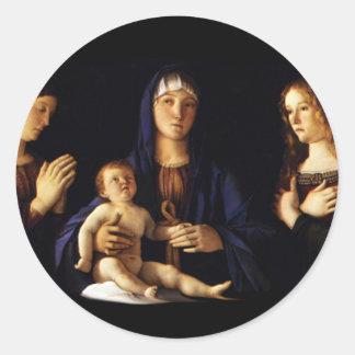 Madonna with Child Jesus - Catherine - Magdalene Classic Round Sticker