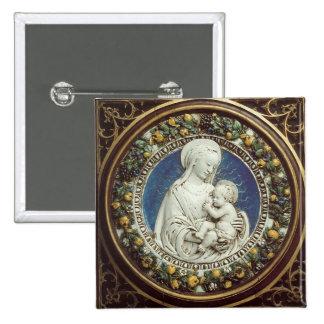MADONNA WITH CHILD, round Pinback Button