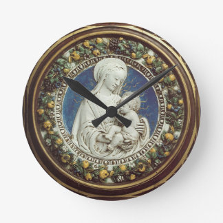 MADONNA WITH CHILD Round Round Clock