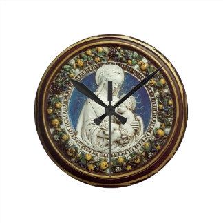 MADONNA WITH CHILD Round Round Clock