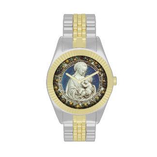 MADONNA WITH CHILD Round Wristwatch