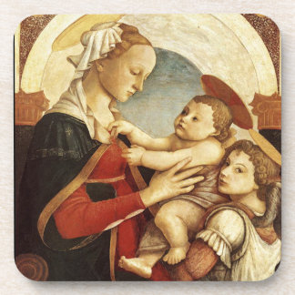 Madonna With Child Set of Cork Coasters