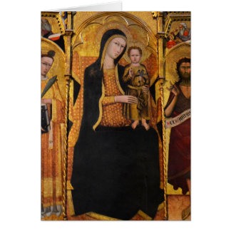 Madonna with Child Siena, Italy Card