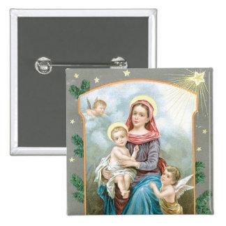 Madonna with Christ Child Button