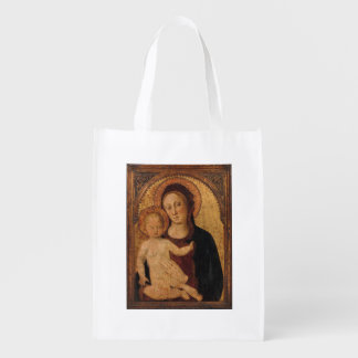 Madonna with Christ Child in Archway Reusable Grocery Bag