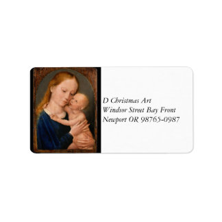 Madonna with Christ Child Label