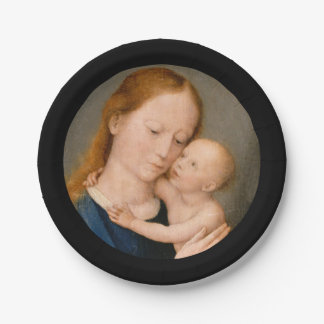 Madonna with Christ Child Paper Plate