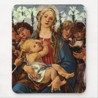 Madonna with eight angels singing mouse pad