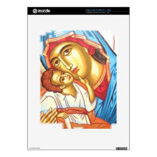 Madonna with Jesus Byzantine Religious Icon gold iPad 2 Skin