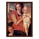 Madonna With John The Baptist By Pontormo Jacopo ( Postcard