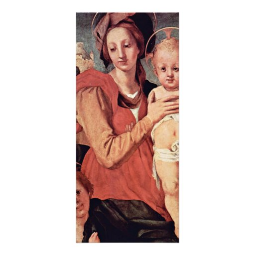 Madonna With John The Baptist By Pontormo Jacopo ( Personalized Rack Card