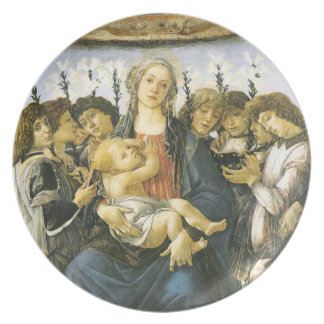 Madonna With Lillies and Eight Angels Plate