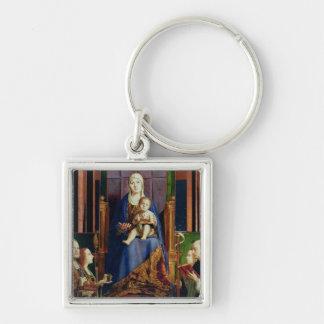Madonna with Saint Nicholas of Bari Keychain