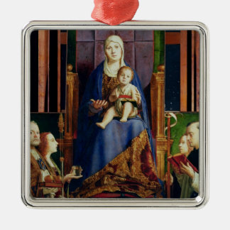 Madonna with Saint Nicholas of Bari Metal Ornament