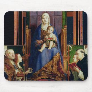 Madonna with Saint Nicholas of Bari Mouse Pad