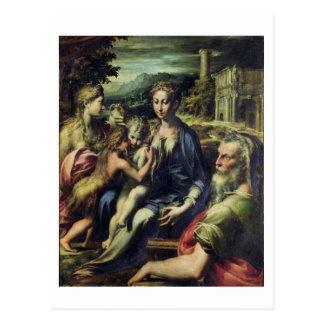 Madonna with Saint Zacharias, c.1527-30 (oil on ca Postcard