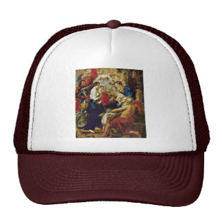 Madonna With Saints By Rubens Peter Paul Trucker Hats