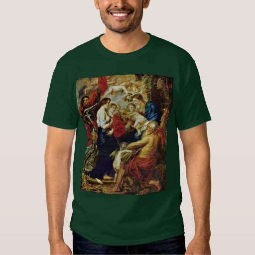 Madonna With Saints By Rubens Peter Paul T Shirts