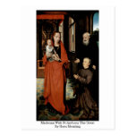 Madonna With St.Anthony The Great By Hans Memling Post Card