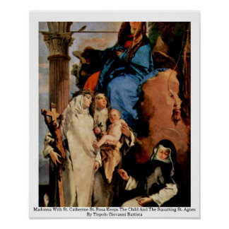 Madonna With St. Catherine St. Rosa Print