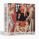 Madonna With St. Francis And St. Jerome By Pontorm 3 Ring Binders