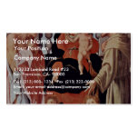 Madonna With St. Francis And St. Jerome By Pontorm Business Card Templates