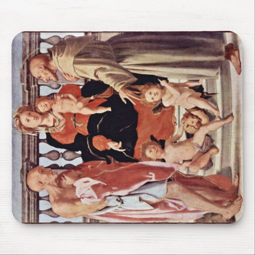 Madonna With St. Francis And St. Jerome By Pontorm Mouse Pads