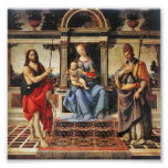 Madonna with Sts John the Baptist and Donatus Posters