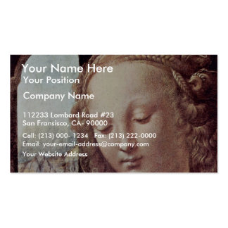 Madonna With The Carnation  By Leonardo Da Vinci Double-Sided Standard Business Cards (Pack Of 100)