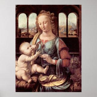 Madonna with the Carnation by Leonardo da Vinci Print
