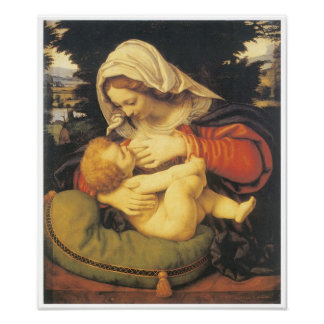 Madonna with the Green Cushion, c. 1507 Poster