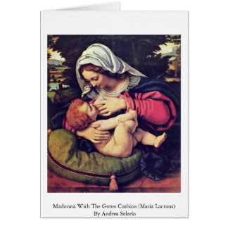 Madonna With The Green Cushion Greeting Cards
