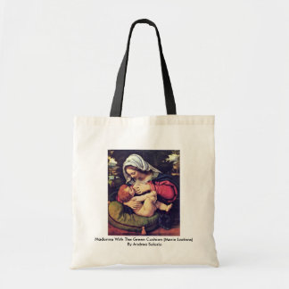 Madonna With The Green Cushion Tote Bag