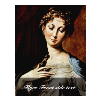 Madonna With The Long Neck  By Parmigianino Flyer