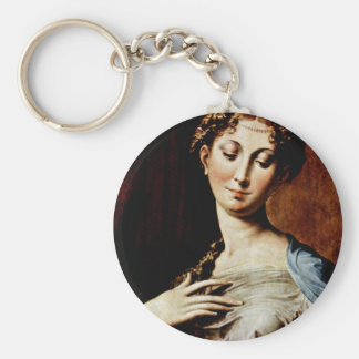 Madonna With The Long Neck By Parmigianino Keychains